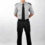 Camisa social masculina mg curta com lapela nos ombros em Microfibra - Calça social masculina em Oxford - Gravata masculina